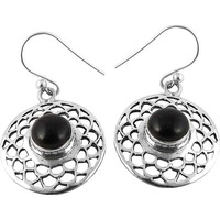 2016 Fashion !! Black Onyx 925 Sterling Silver Earrings