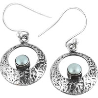 Big Delicate!! 925 Silver Pearl Earrings