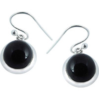 Secret Design!! 925 Silver Black Onyx Earrings