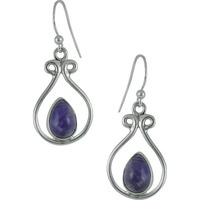Big Royalty!! 925 Silver Amethyst Earrings