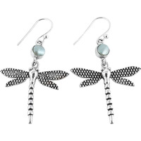 Amazing!! 925 Silver Pearl Earrings
