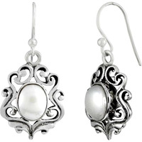 Best Quality ! 925 Sterling Silver Pearl Earrings