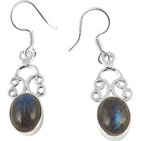 Tropical Glow!! 925 Silver Labradorite Earrings