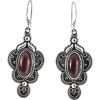 Afternoon Sun ! Garnet 925 Sterling Silver Earrings