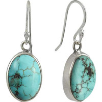 Hot ! Turquoise Gemstone Silver Jewelry Earrings