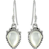 Natural Beauty Mother Of Pearl Sterling Silver Earrings Jewelry