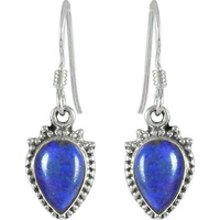 Supplier Lapis Gemstone Sterling Silver Earrings Jewelry