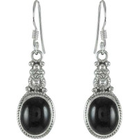 Good Looking Black Onyx Gemstone Sterling Silver Earrings Jewelry