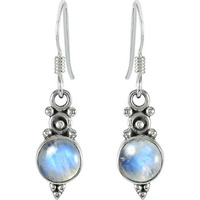 Rainbow Moonstone Silver Jewelry !! Gemstone Silver Jewelry Earrings