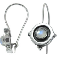 Sterling Silver Jewelry !! Rainbow Moonstone Silver Earrings Jewelry