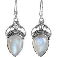Scallywag Rainbow Moonstone Sterling Silver Jewelry Earrings
