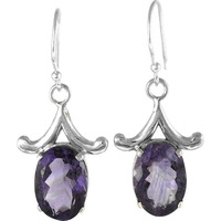 Jumbo Fantastic!! 925 Silver Amethyst Earrings Wholesale
