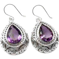 Island Fantasy!! 925 Silver Amethyst Earrings Wholesale