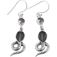 Delicate!! 925 Silver Amethyst Gemstone Earrings