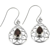 Lovely!! 925 Silver Garnet Gemstone Earrings
