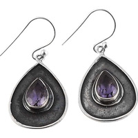 New Fashion!! 925 Silver Amethyst Gemstone Earrings
