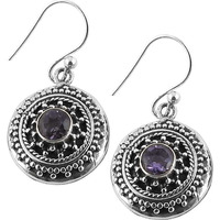 Love At First Sight Light! 925 Silver Amethyst Gemstone Earrings
