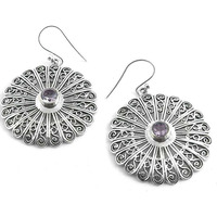 The One! 925 Silver Amethyst Gemstone Earrings