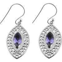 Gorgeous !! Amethyst 925 Sterling Silver Earrings
