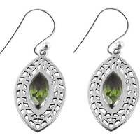 Tropical Glow !! Peridot 925 Sterling Silver Earrings