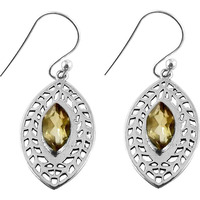 Kiss !! Citrine 925 Sterling Silver Earrings