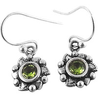 Very Delicate! 925 Silver Peridot Gemstone Earrings