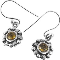 Ivy Precious! 925 Silver Citrine Gemstone Earrings