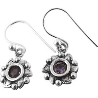 Paradise Bloom! 925 Silver Amethyst Gemstone Earrings