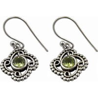 Exclusive !! Peridot 925 Sterling Silver Earrings