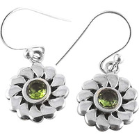 Excellent! 925 Silver Peridot Gemstone Earrings