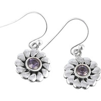Maya Freedom! 925 Silver Amethyst Gemstone Earrings
