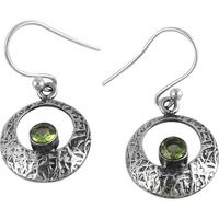 Charming ! Peridot 925 Sterling Silver Earrings