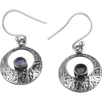Circle Of Hope ! Amethyst 925 Sterling Silver Earrings