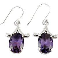 Mystic Princess !! Amethyst 925 Sterling Silver Earrings