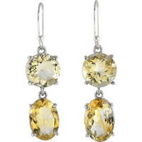 Pale Beauty Citrine Gemstone Silver Jewelry Earrings