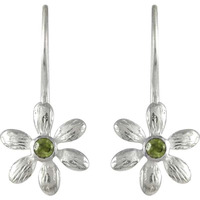 Shine!! Peridot 925 Sterling Silver Earrings