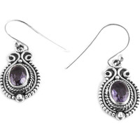 Cute!!  925 Sterling Silver Amethyst Earrings
