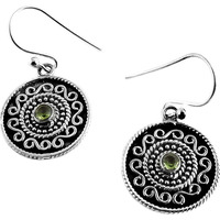 Best Design ! Peridot 925 Sterling Silver Earrings