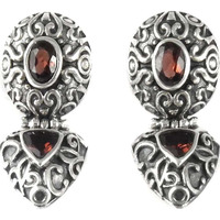 Best Quality ! Garnet 925 Sterling Silver Earrings