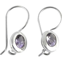 Excellent!! Amethyst 925 Sterling Silver Earrings