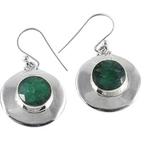 Cloud Song ! Emerald 925 Sterling Silver Earrings