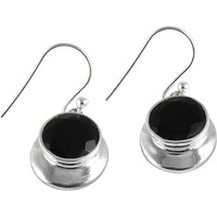 Colour Changing ! Black Onyx 925 Sterling Silver Earrings