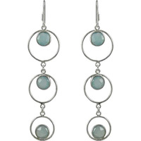 Good Looking Chalcedony Gemstone Silver Earrings Jewelry