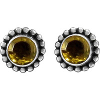 Summer Stock!! 925 Sterling Silver Citrine Studs