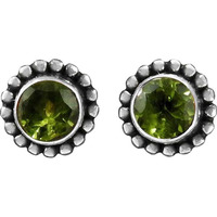 Paradise Bloom!! 925 Sterling Silver Peridot Studs
