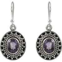 Big Fabulous!! 925 Sterling Silver Amethyst Earrings
