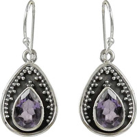 Big Secret Created!! 925 Sterling Silver Amethyst Earrings