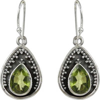 Catching!! 925 Sterling Silver Peridot Earrings