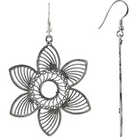 Big Fabulous Flower Design 925 Sterling Silver Earrings