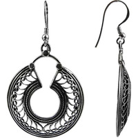 Excellent !! Oxidized 925 Sterling Silver Earrings